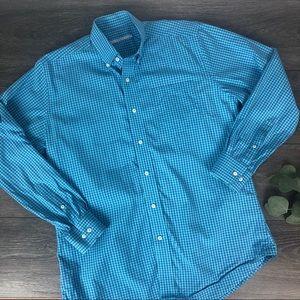 Southern tide men's plaid button up shirt